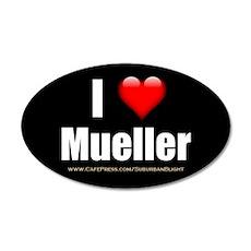 I Love Mueller Wall Decal
