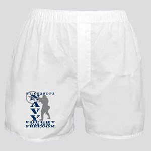 Grndpa Fought Freedom - NAVY  Boxer Shorts