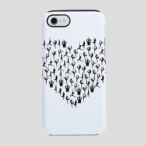 Black Yogi Heart iPhone 8/7 Tough Case