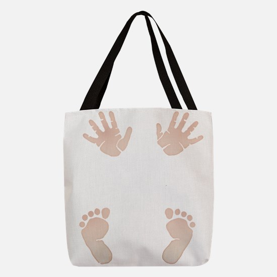 Baby_Hands_and_Feet_Maternity_E Polyester Tote Bag