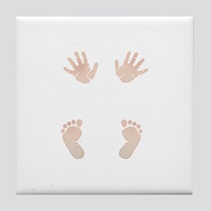 Baby_Hands_and_Feet_Maternity_Exc1 Tile Coaster