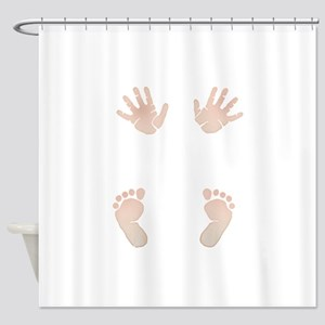 Baby_Hands_and_Feet_Maternity_Exc1 Shower Curtain