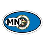 Minnesota State Flag Oval Sticker