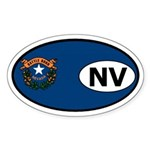 Nevada State Flag Oval Sticker