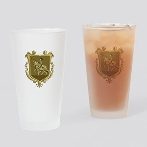 Knight Riding Steed Lance Coat of Arms Retro Drink