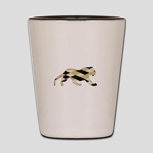 Geometric Tiger Shot Glass