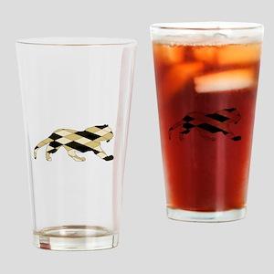 Geometric Tiger Drinking Glass