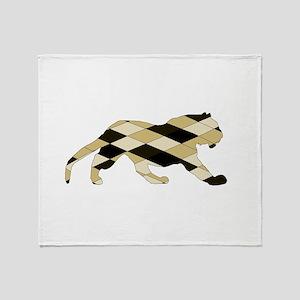 Geometric Tiger Throw Blanket