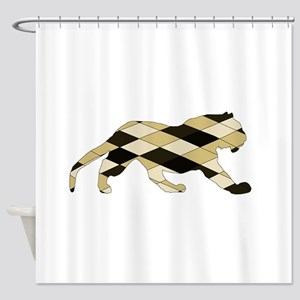 Geometric Tiger Shower Curtain