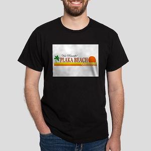 Visit Beautiful Plaka Beach,  Dark T-Shirt