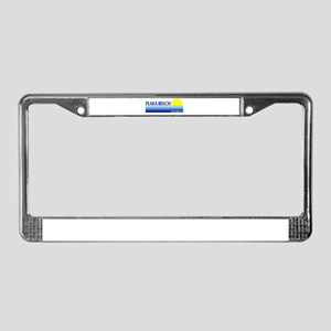 Plaka Beach, Greece License Plate Frame