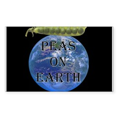 Peas on Earth Rectangle Decal