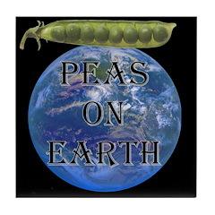 Peas on Earth Tile Coaster