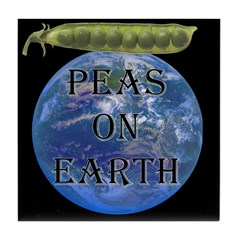 Peas on Earth Tile Coaster