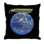 Peas on Earth Throw Pillow