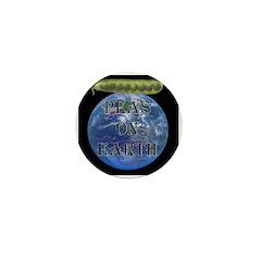 Peas on Earth Mini Button