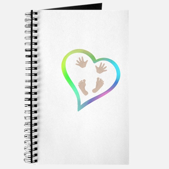 Baby Hands and Feet in Heart Journal