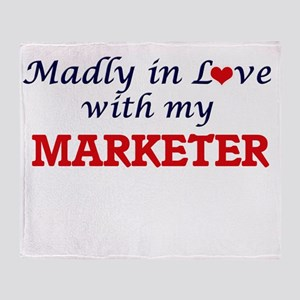 Madly in love with my Marketer Throw Blanket