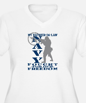 Father-n-Law Fought Freedom - NAVY  T-Shirt