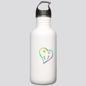 Baby Hands and Feet in Stainless Water Bottle 1.0L