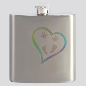 Baby Hands and Feet in Heart Flask