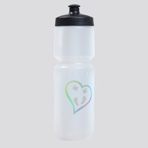 Baby Hands and Feet in Heart Sports Bottle