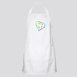 Baby Hands and Feet in Heart Light Apron