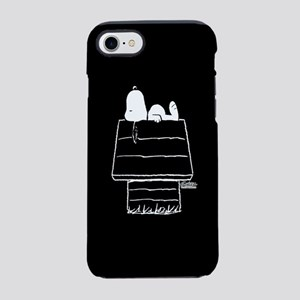 Snoopy on House Black and Wh iPhone 8/7 Tough Case