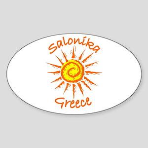 Salonika, Greece Oval Sticker