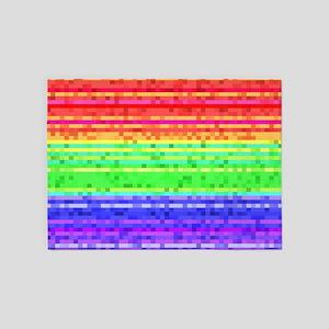 Martian Tricolore Lines 5'x7'Area Rug