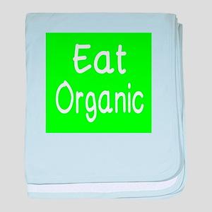 Eat Organic baby blanket