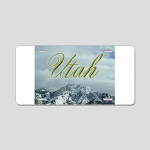 MountainPhotosWideUtah Aluminum License Plate