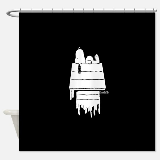 Snoopy Black and White Shower Curtain