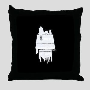 Snoopy Black and White Throw Pillow