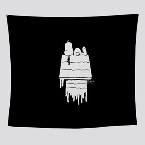 Snoopy Black and White Wall Tapestry