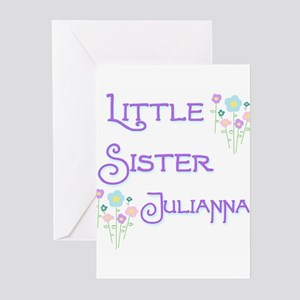 Little Sister Julianna Greeting Cards (Pk of 10)
