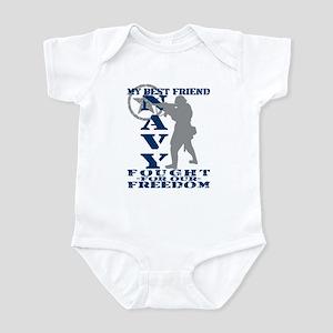 Best Friend Fought Freedom - NAVY  Infant Bodysuit