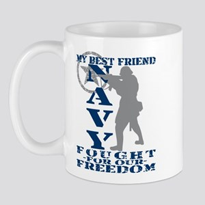 Best Friend Fought Freedom - NAVY  Mug