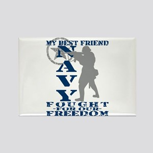 Best Friend Fought Freedom - NAVY Rectangle Magne