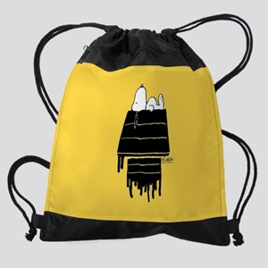 Snoopy Black and White Drawstring Bag