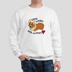 Corgi Smiles Melt My Heart Sweatshirt