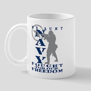 Aunt Fought Freedom - NAVY  Mug