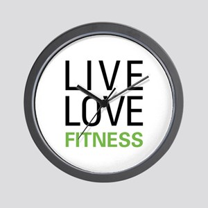 Live Love Fitness Wall Clock