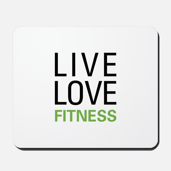 Live Love Fitness Mousepad