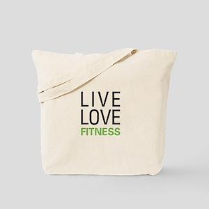 Live Love Fitness Tote Bag
