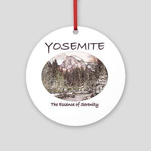 Yosemite:Serenity Ornament (Round)