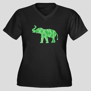 Geometric Elephant Plus Size T-Shirt