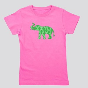 Geometric Elephant Girl's Tee