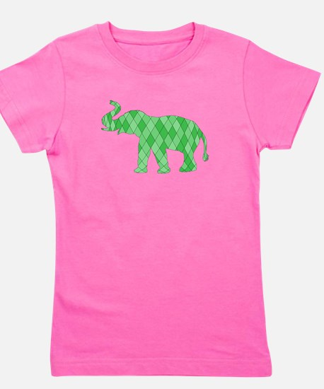 Geometric Elephant Girl's Tee