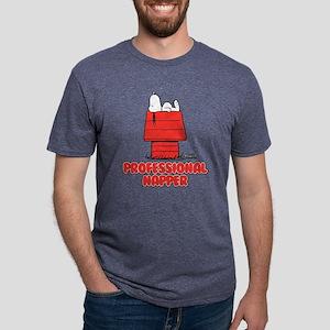 Snoopy Black and White Mens Tri-blend T-Shirt